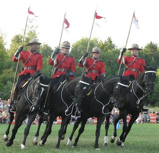 RCMP musical ride on Canada Day