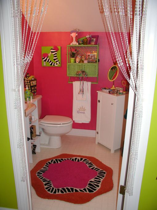 I like the placement of the jewelry organizer with the for Teen girl bathroom ideas