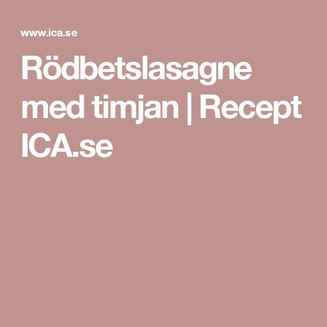 Rödbetslasagne med timjan | Recept ICA.se