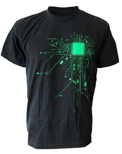 Computer CPU Core Heat Geek T-Shirt