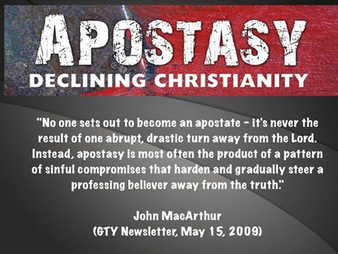 John MacArthur on how apostasy occurs - although there will be a great turning away in the last days II Thessalonians 2:3
