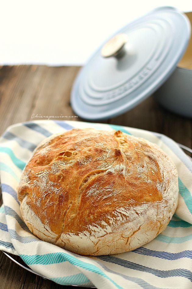 Pane senza impasto o no knead bread | Chiarapassion