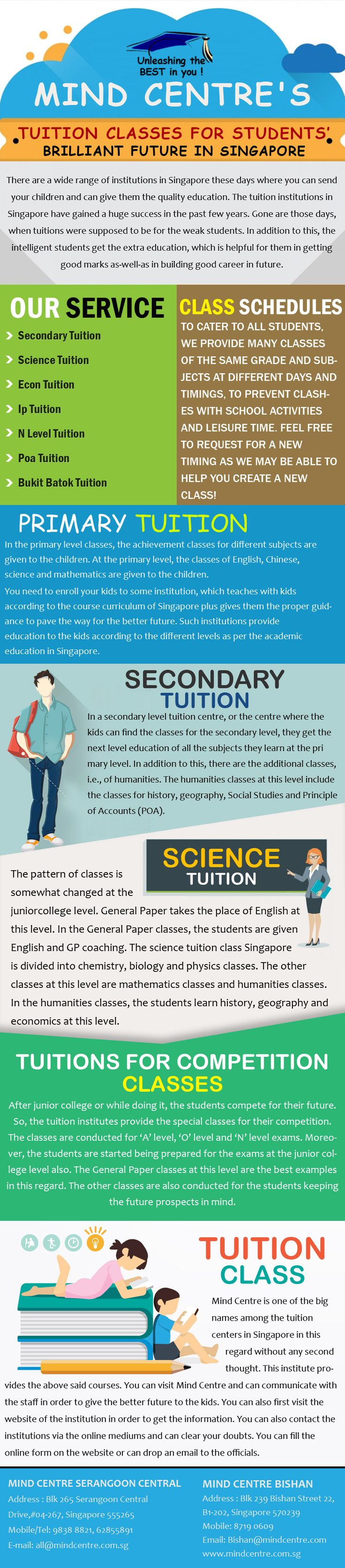 Here you can find different levels of academic education in Singapore. Students stop thinking a lot and join Mindcentre Singapore tuition classes.
