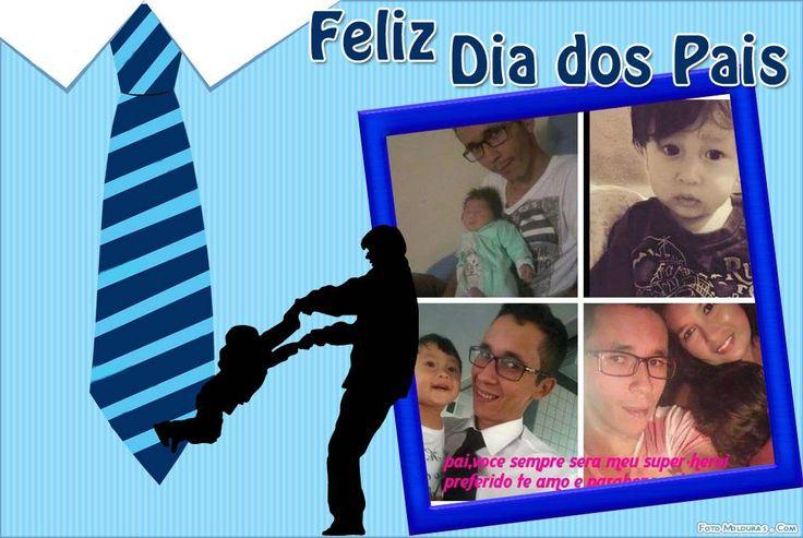 Montagem de fotos - Moldura - Feliz Dia Dos Pais