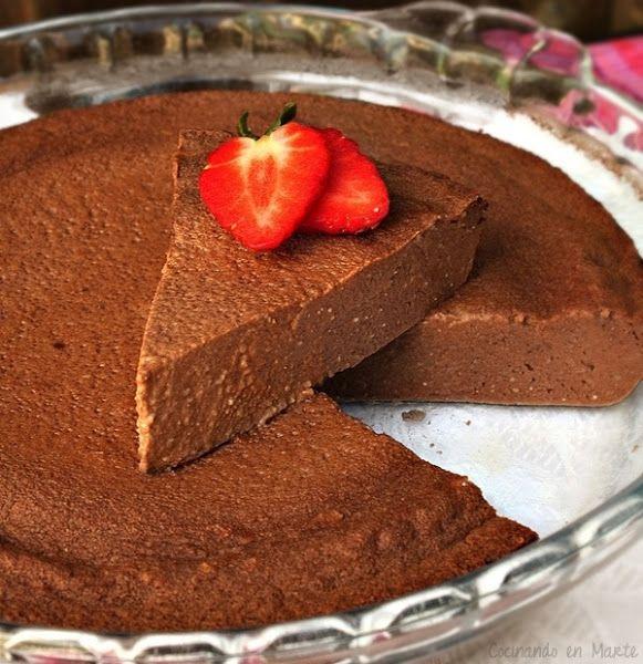 Tarta ligera de chocolate al microondas
