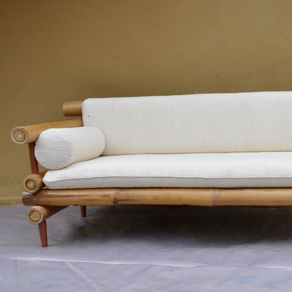 Furniture Bamboo Sofa 2-Arms