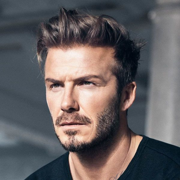 Check out these pictures of cool men's hairstyles to try in 2015. David Beckham continues to set hair trends with this messy medium hair.