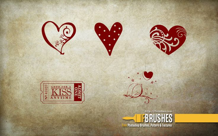 Love - Free Photoshop brushes