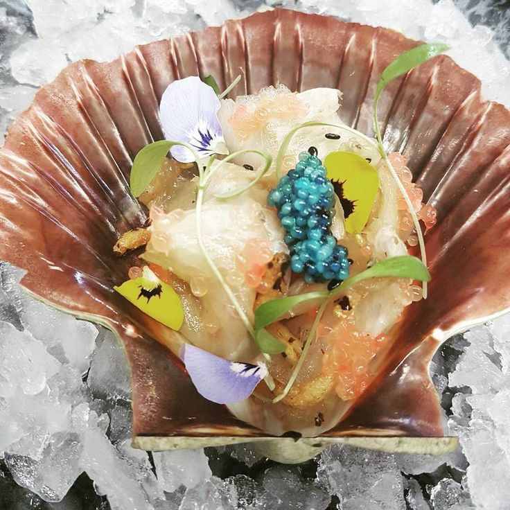 Chris Wade @chefchriswade  Beautiful QLD Cobia belly, smoked soy  #fingerlime wild Scampi caviar  @scoopit http://sco.lt/...