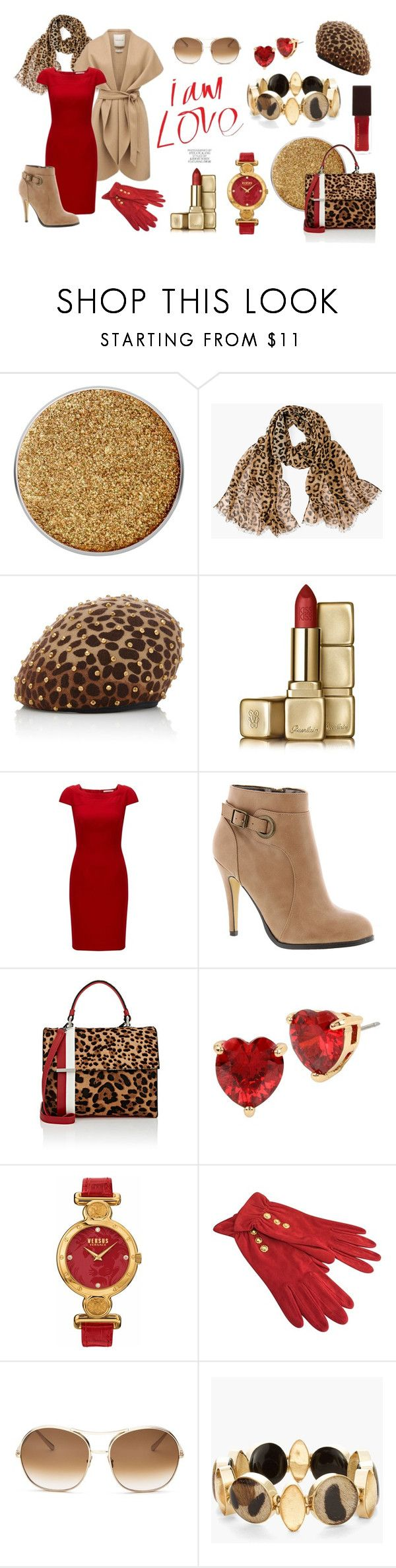 """red panthere"" by celine-diaz-1 on Polyvore featuring mode, Chico's, Yestadt Millinery, Guerlain, Forever New, Michael Antonio, Tomasini, Betsey Johnson, Versus et Emanuel Ungaro"