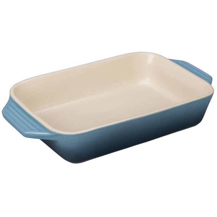 "Le Creuset Stoneware 3.15 qt. [12.5"" x 8.25""] Rectangular Dish - Marine"