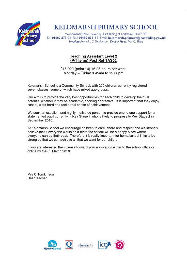 preschool teacher assistant cover letter teachers aide sample kindergarten teachersimple application