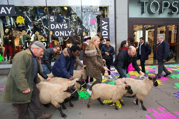 "Online fashion retailer Lyst has sent a flock of sheep to London's Oxford Street in a bid to encourage bargain-hunters not to blindly ""follow the herd"" from shop to shop. CMO Woolfenden said: ""Heading to the high-street this Black Friday? What the flock are you thinking? We're not pulling the wool over your eyes on this one. Lyst is the only place where you can genuinely beat Black Friday with all the sales from all the retailers collated in one place."""