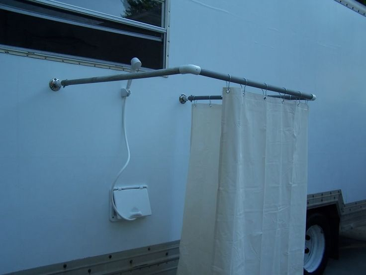 Build An Outdoor Shower Stall Rving Pinterest