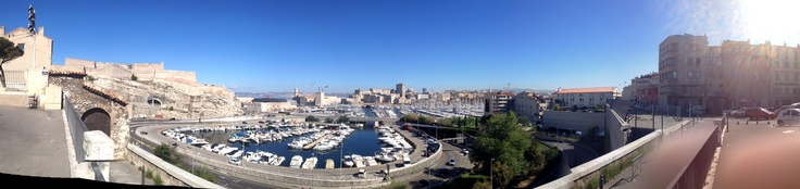 Marseille's Vieux Port as seen from L'Abbaye St. Victor