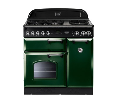 We've been left with this lovely Rangemaster cooker in dark green in our new kitchen. Fingers crossed it will work (after a good clean).