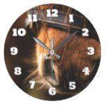 Cute Brown Horse Nose Large Clock  #Brown+ #Clock #cute #horse #Large #Nose #RusticClock The Rustic Clock