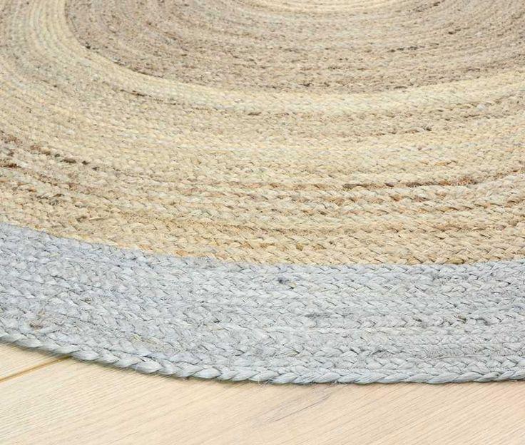 Faro Jute Natural Circle Rugs   Modern Rugs