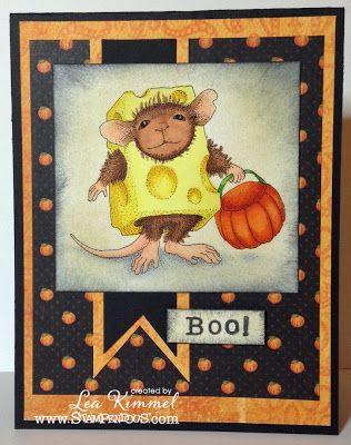 (th)INK Positive: Trick or Cheese!! - @Leadonna Quick Kimmel  sharing House-Mouse Designs® Stampendous stamps!