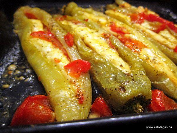 Tomato  Feta Stuffed Peppers - Kalofagas - Greek Food  Beyond - Kalofagas - Greek Food  Beyond