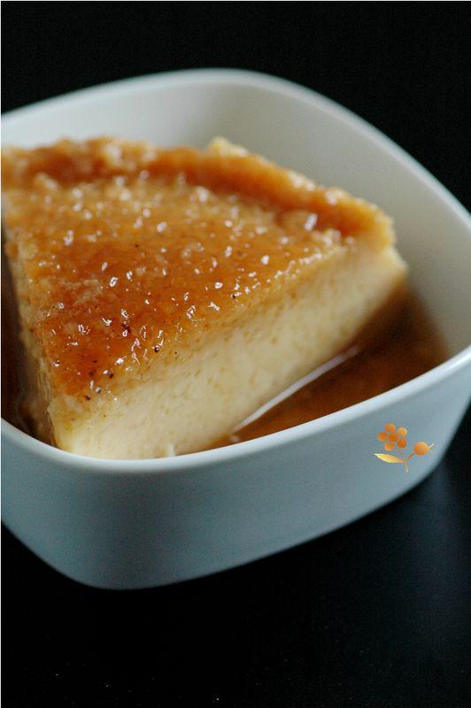 Crème renversée très légère, au lait d'amande