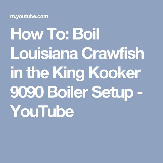 How To: Boil Louisiana Crawfish in  the King Kooker 9090 Boiler Setup - YouTube