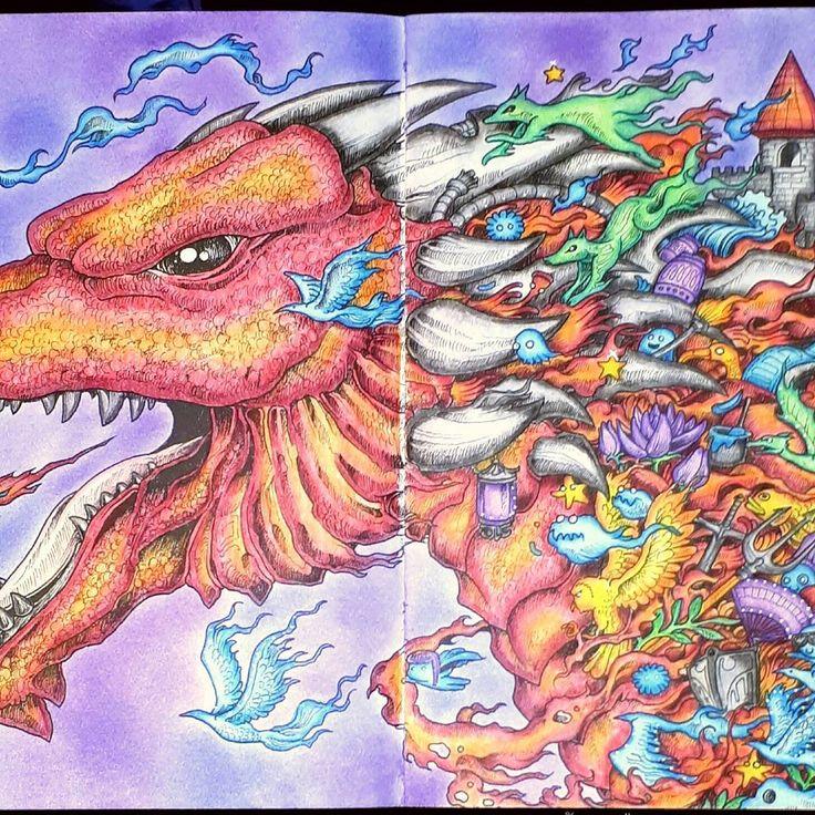 mythomorphia coloriage Colorful drawings, Coloring