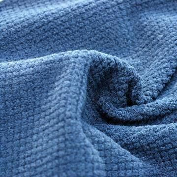 Insulation Check Fleece Fabric, Made of 93% Polyester and 7% Spandex