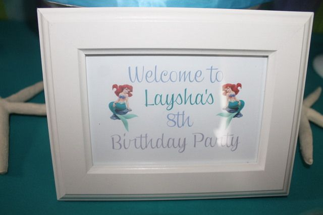 """The Little Mermaid / Birthday """"Ariel the Little Mermaid Inspired 8th Birthday """" 