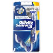 Gillette Sensor 3 Disposable Razors (4 Pack) A pack of Sensor 3 disposable razors from Gillette. Featuring a non-slip, ergonomic handle, the razors allow precision and control, whilst the spring-mounted, pivoting heads follow the shape of your f http://www.MightGet.com/march-2017-1/gillette-sensor-3-disposable-razors-4-pack-.asp