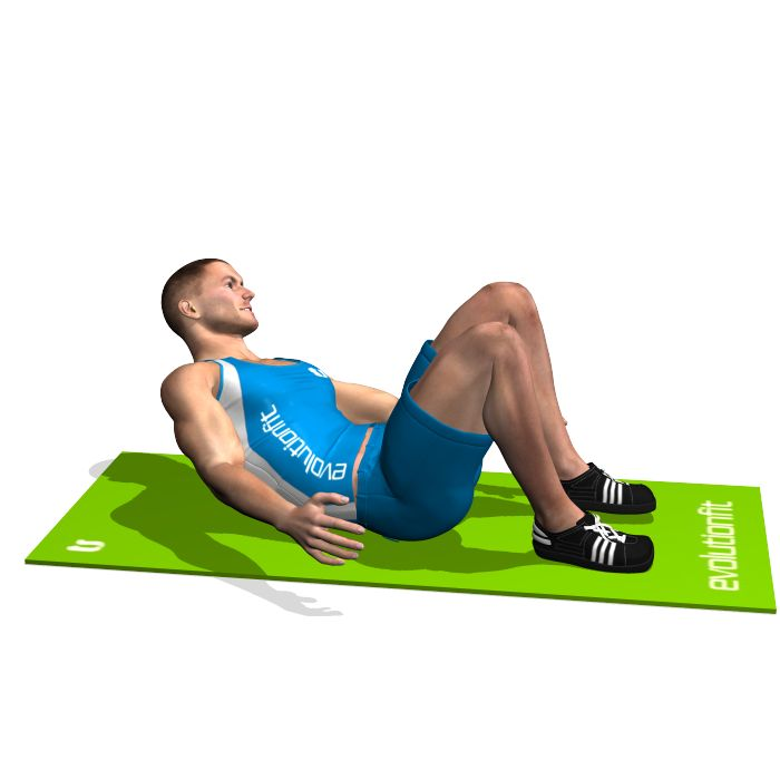 The exercise involves the rectus abdominis and in particular the upper part. It is harder tha the crunches exercise.