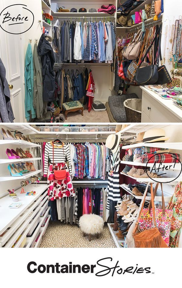 See how we transformed a fashionista's closet in to something AMAZING! We used elfa to create a custom walk-in closet that Cassie Freeman, Hi Sugarplum blogger loved!