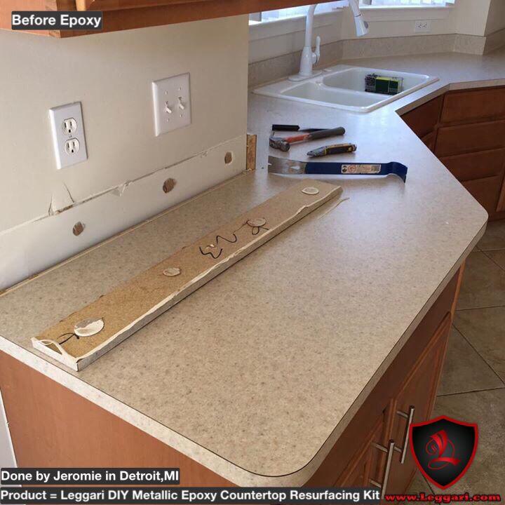 Metallic Countertop Paint : countertop #resurfacing made easy with our #metallic #epoxy countertop ...