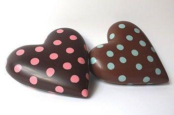 Corazón de chocolate.    &.    Cholade harten .