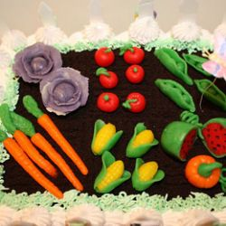 What to do with the leftover garden goodies? Garden Cake Tutorial! :)