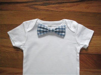 how make a bow tie onesie. as soon as anyone i know gets pregnant, i'm making so many of these