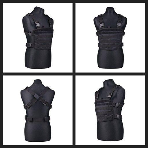 Mini Chest Rig Tactical Vest  Solo 14€  https://airsoftstore.es/es/chalecos-tacticos/2025-mini-chest-rig-tactical-vest-negro.html #MOLLE #SCOUT #VEST #RRV #PLATECARRIER #CHALECO #TACTICO