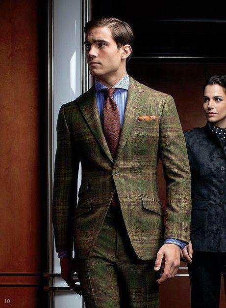 ポール・スチュアートのグリーン & チェックのスーツは、周りに差をつけたいビジネスマンの秋冬ファッションにおすすめ!
