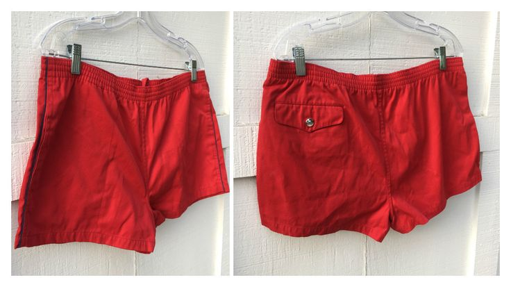 70's Wet Hot American Summer Pierre Bonée Bright Red Shorts - Men's Medium/Large by ElkHugsVintage on Etsy