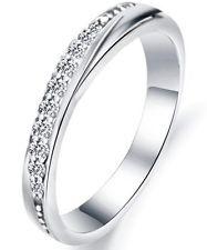 Eleganter Design-Ring ! Weißgold Gold pl. mit Zirkonia Verlobungsring Damen Ring