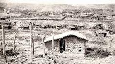 Vista parcial de Canudos ao sul. Segundo o registro oficial do exército, foram contados 5200 casebres no arraial de Antônio Conselheiro, 1897 (Flávio de Barros/Acervo Museu da República).