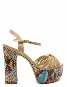 Xti - Sandales Compensées Jovana Chameau -height: 8,5cm-