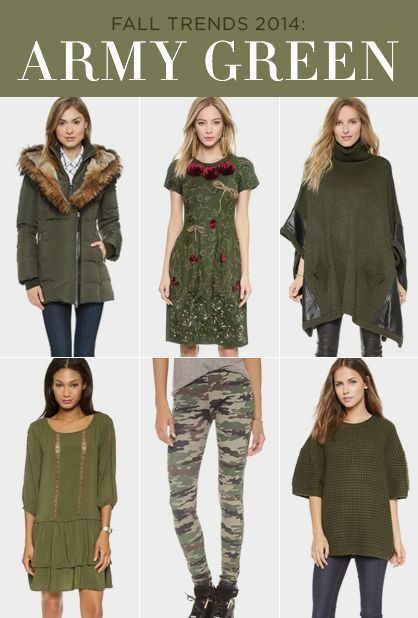 Fall Trends: How to Wear Army Green