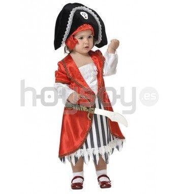 Precioso #disfraz de #pirata para #niña #carnaval #disfraces