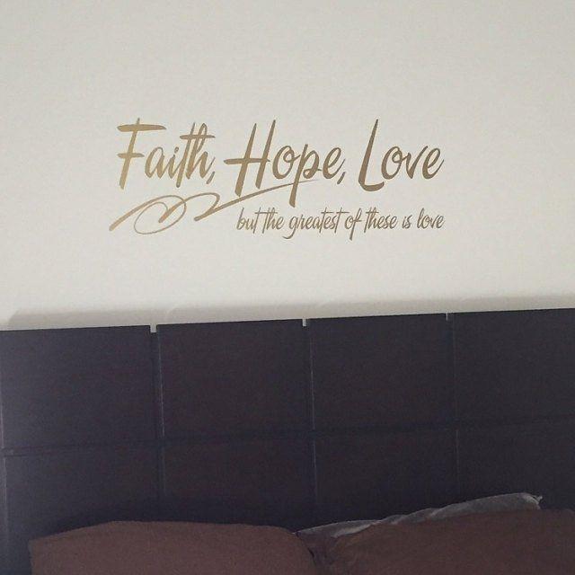 Faith Hope Love Wall Art Sign Gift Printables Set Of 3 Bible