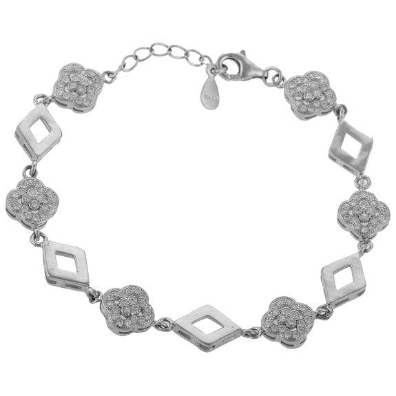 Define Jewellery Silver American Diamond bracelet for Women (DFBC0017)