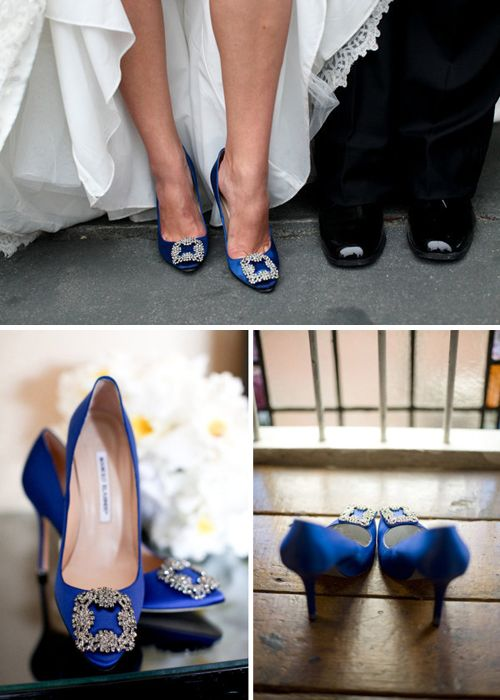 the only wedding shoes I would ever wear. Manolo Blahnik 'Hangisi' Jeweled Pumps