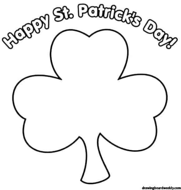 Shamrock Coloring Page Coloring Pages Happy St Patricks Day St Patricks Day Wallpaper