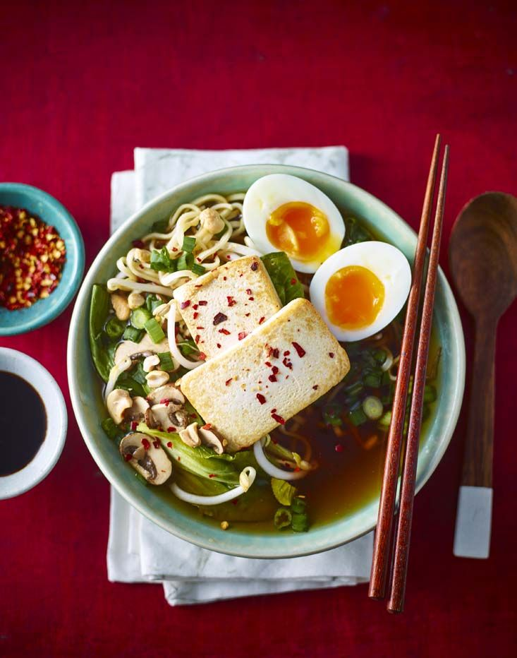Easy ramen made with a rich miso and mushroom broth