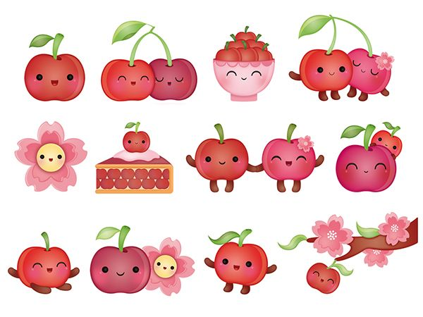 Cherry Stickers, Peaceable Kingdom, USA on Behance